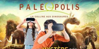 """L'affiche de Paléopolis sur l'exposition """"Le mystère des géants disparus"""""""