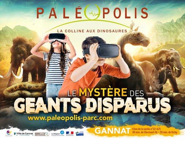 L'affiche de Paléopolis sur l'exposition