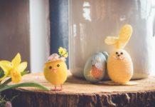 Figurine Lapin, œuf et poussin