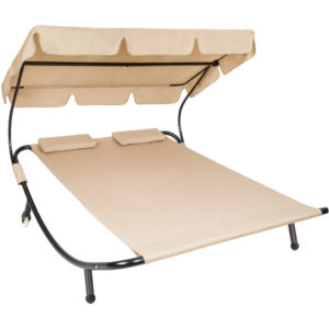 TECTAKE Chaise Longue 2 Places