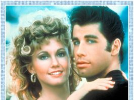 Sandy Olsson (Olivia Newton-John) et Danny Zuko (John Travolta) sur l'affiche de Grease