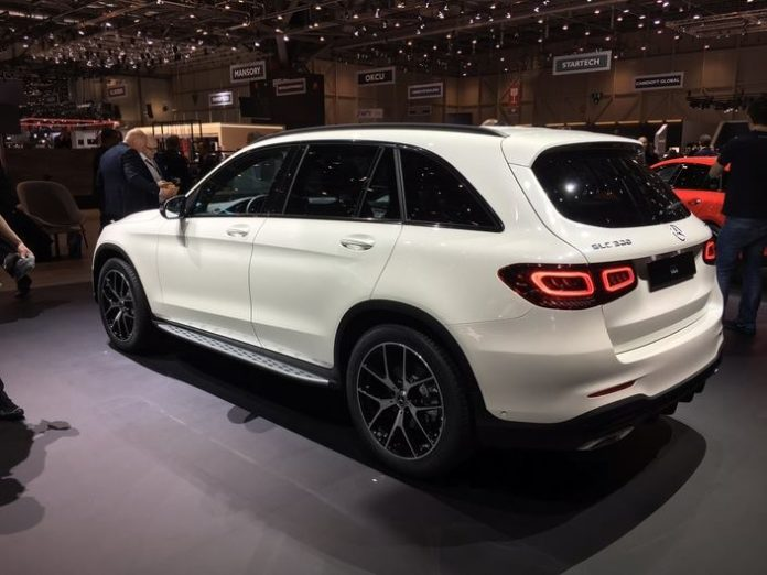 Mercedes GLC restylé lors de sa présentation officielle en mars 2019