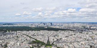 Une vue de Paris, près du Trocadero