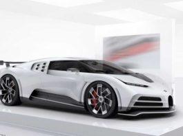 Une maquette de la Bugatti Centodieci