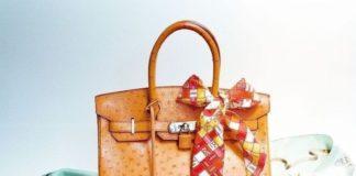 Un sac à main confectionné par les ateliers d'Hermès