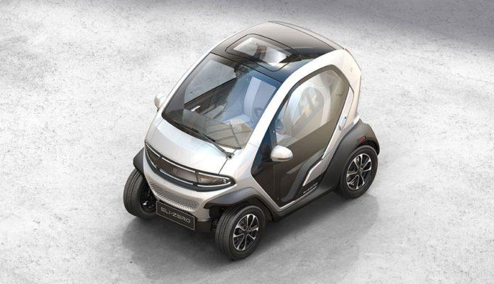 Le quadricycle électrique Eli Zero du constructeur chinois Eli Electric Vehicles.
