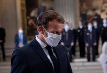 Emmanuel Macron lors d'une visite au Panthéon, à Paris, le 4 septembre 2020 (Photo : Elysée).